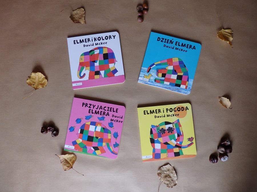 Dzień Elmera, Przyjaciele Elmera, Elmer i pogoda, Elmer i kolory, Papilon, David McKee