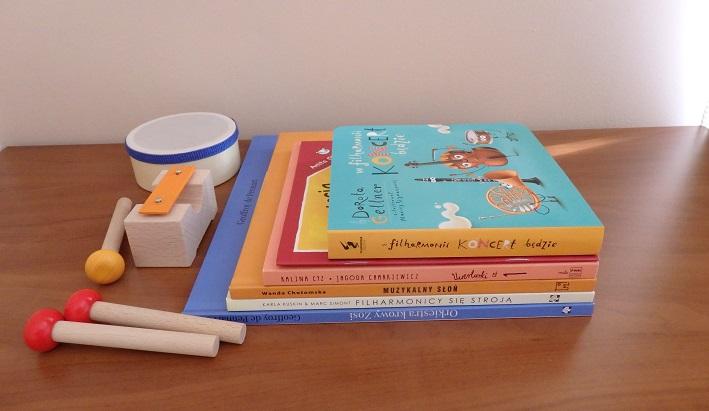 Przegląd książek dla najłodszych, muzyka, instrumenty, filharmonia, orkiestra