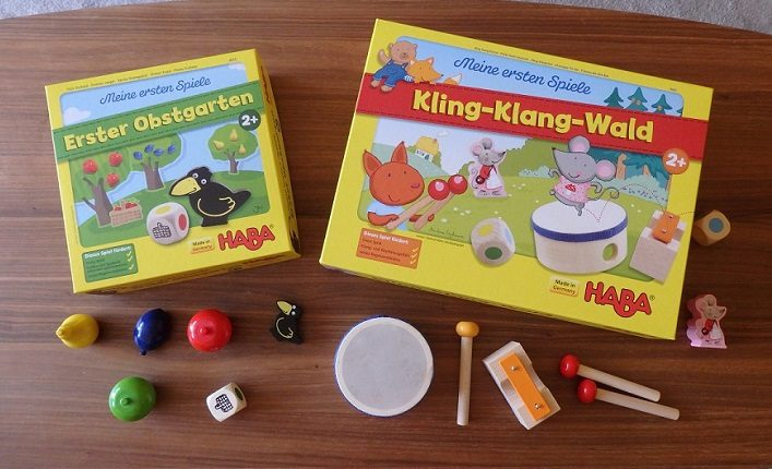 Haba, Moja pierwsza gra, W ogrodzie, Erster Obstgarten, Dźwięczny las, Grający las, Kling-Klang Wald, Ding-Dong Forest