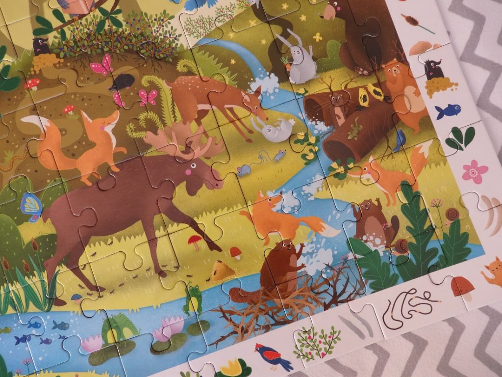 Puzzle obserwacyjne Zwierzęta leśne Kapitan Nauka