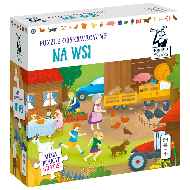 puzzle obserwacyjne na wsi kapitan nauka