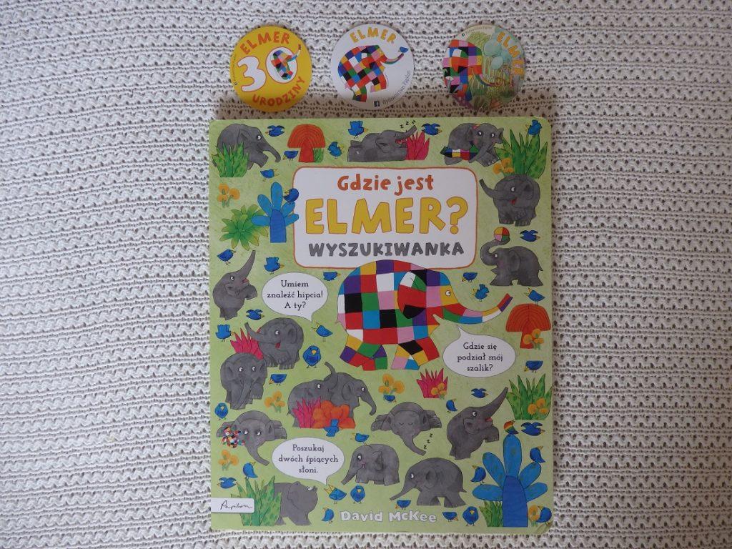 Gdzie jest Elmer? Wyszukiwanka, David McKee, wydawnictwo Papilon