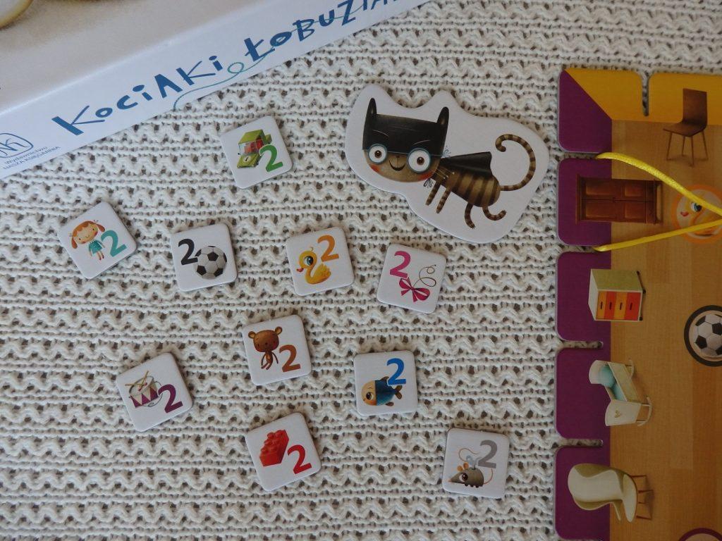 Kociaki łobuziaki gra planszowa dla dzieci Nasza Księgarnia Joeffrey D. Allers, Maciej Szymanowicz