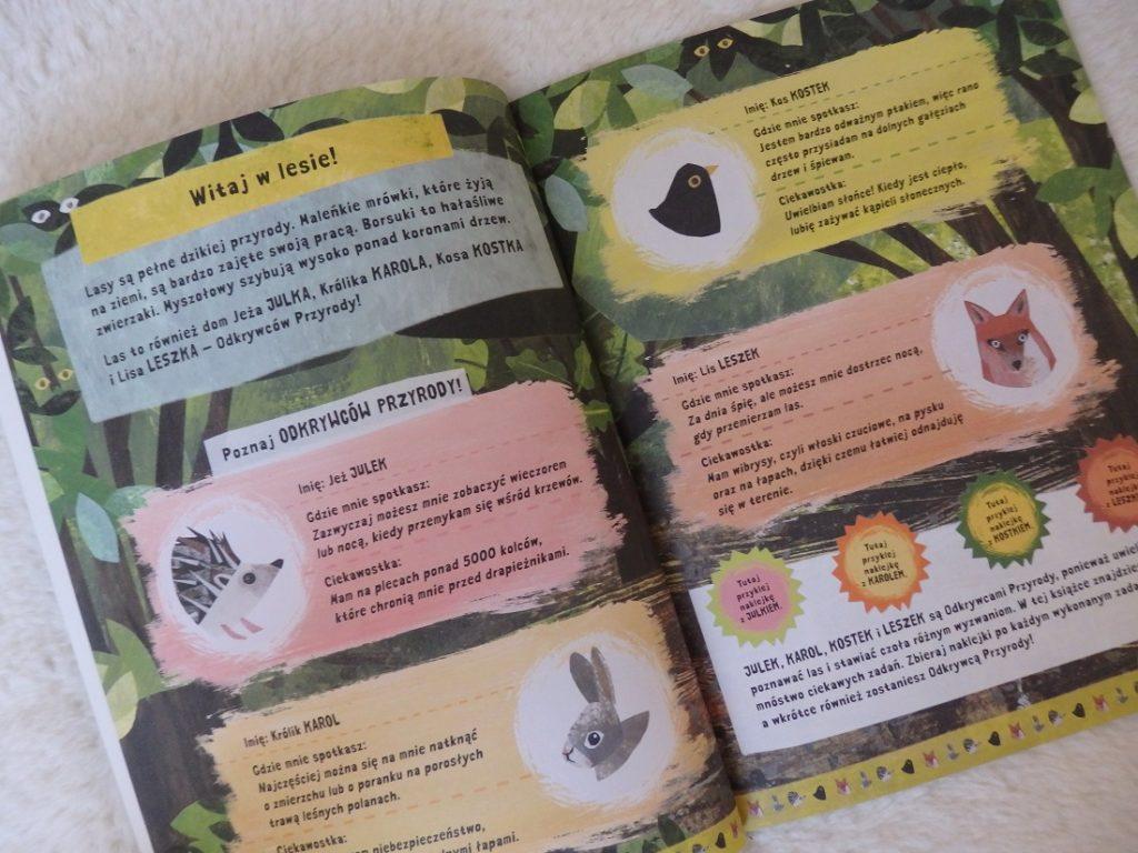 Odkrywcy przyrody, Zeszyt z zadaniami i naklejkami, Clover Robin, Egmont