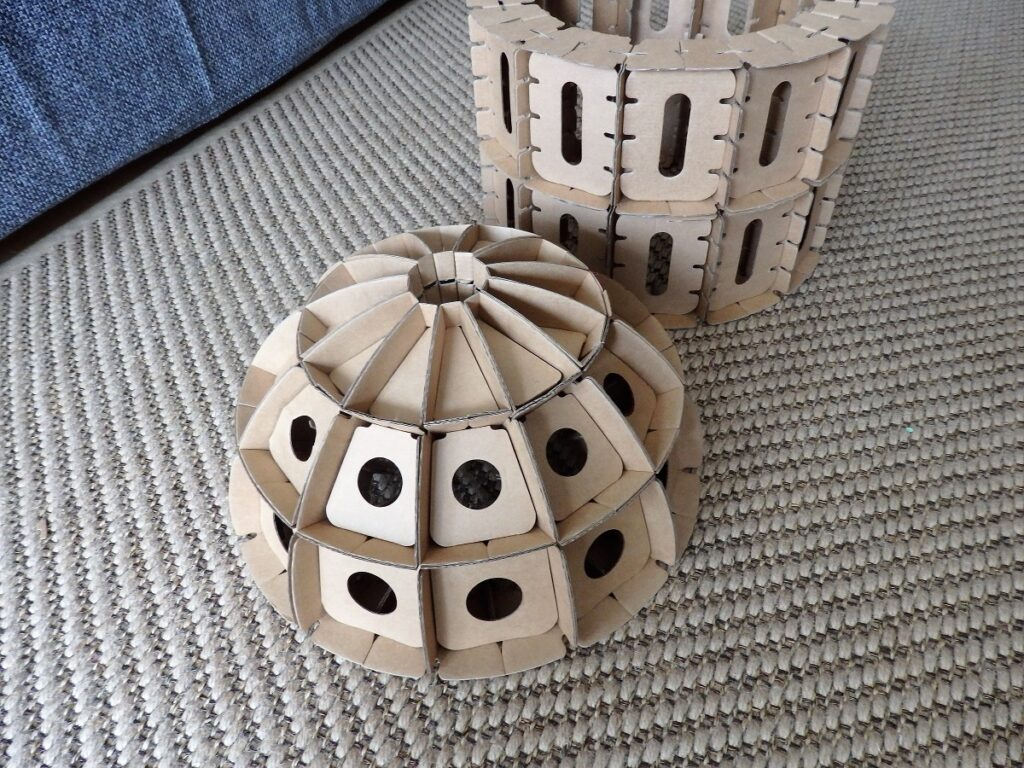 klocki Cardblocks kopuła, rotunda